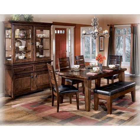 larchmont burnished dark brown dining room buffet d442 80 d442 25 ashley furniture rectangular dining room table