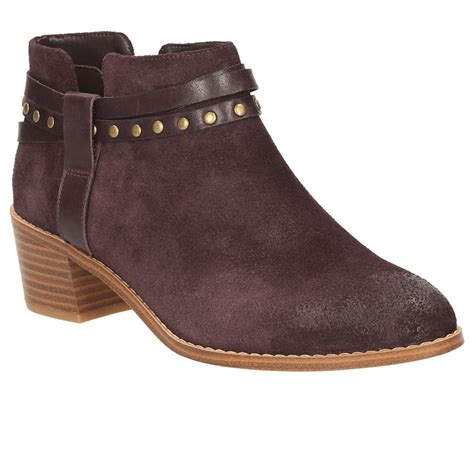 clarks breccan shine womens casual ankle boots