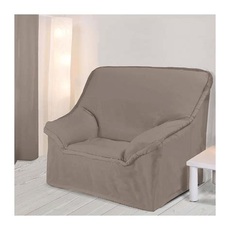 housses canap駸 housse fauteuil unie taupe