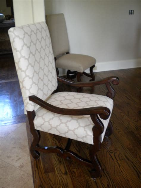 Reupholster Dining Chair The Material Custom Sewing Interior Redesign Large Reupholstered Dining Chairs