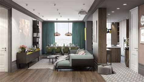 Modern Interior Colors For Home | a pair of modern homes with distinctively bright color themes