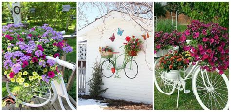 Garden Decoration Bicycle by 17 Ideas For Garden Decorations Made From