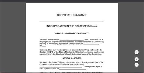Free Corporate Bylaws Template Pdf Word Youtube Bylaws Template