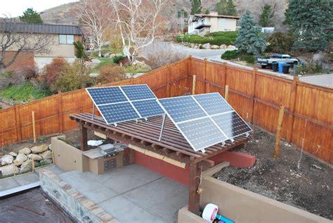 backyard solar panels solar panel pergola strengthening and fixes jack stand