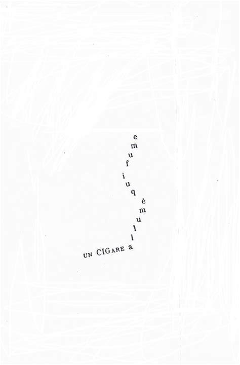 poème de Guillaume Apollinaire: calligramme, un cigare