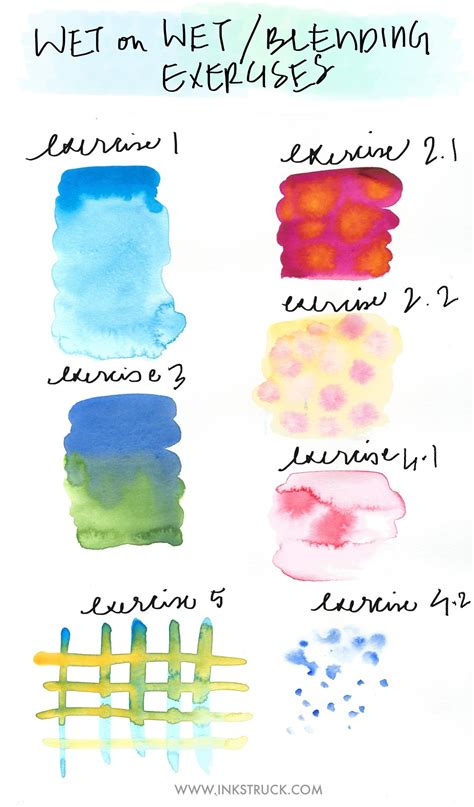 watercolor tutorial basic basic watercolor techniques blending inkstruck studio