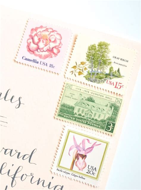 17 Best images about Wedding Postage   Vintage Stamps on