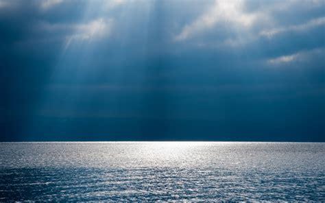 wallpapers rays  light sea nature sky horizon