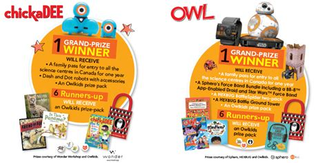contest prizes owlkids science odyssey family contest owlkids