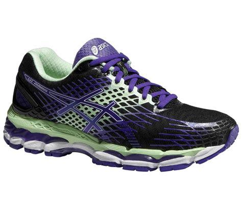 black and purple asics running shoes asics gel nimbus 17 s running shoes purple black