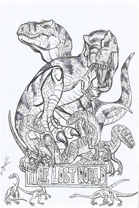 lego velociraptor coloring page jurassic park is frightening in the dark by devilkais