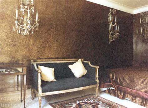 Living Room Paint Effects Contemporary Specialist Decoration Gold Metallic Paint Effect