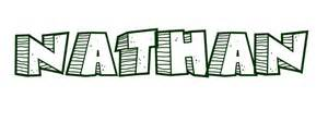coloring page first name nathan