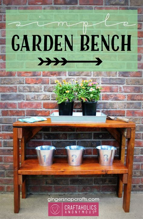 simple garden bench craftaholics anonymous 174 simple garden bench