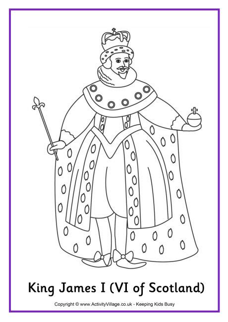 king james coloring pages king james i colouring page 2