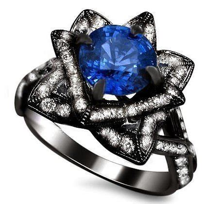Blue Sapphire 21 15ct 2 15ct blue sapphire lotus flower ring 14k