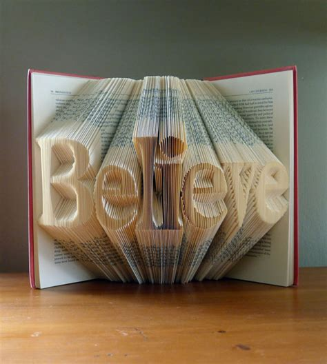 folded book home decor believe unique present
