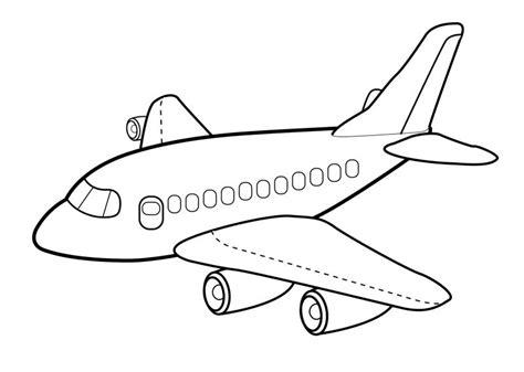 dibujos de aviones  colorear  imprimir gratis