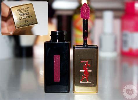 Lipstik Ysl Ori challenge 30 lipsticks in 30 days 12 ysl glossy stain fuchsia cubiste