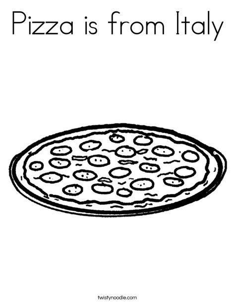 pizza coloring pages preschool pizza is from italy coloring page twisty noodle
