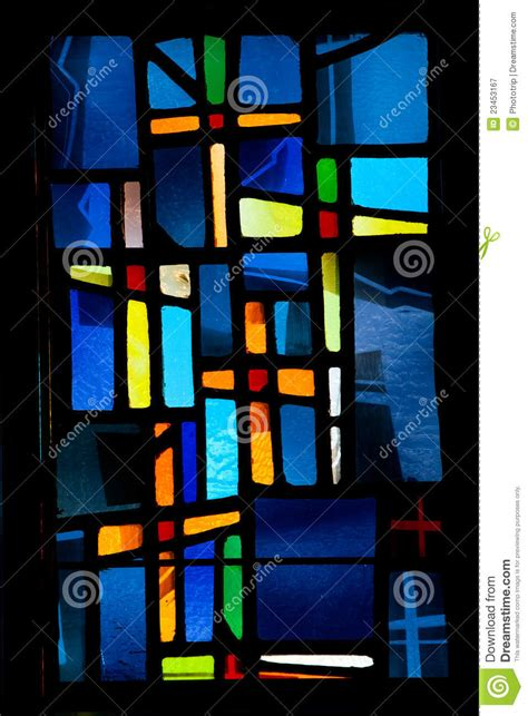 stained glass cross l stained glass window cross royalty free stock photography