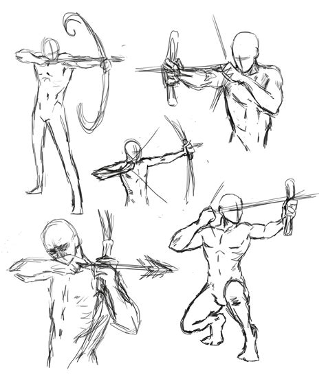 Drawing References Poses by Drawing Bow Poses By Thealtimate On Deviantart