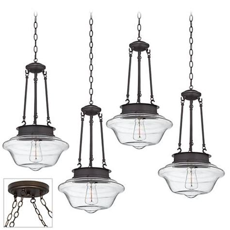 possini lighting possini schoolhouse bronze 4 light swag led chandelier y0430 4v440 ls plus