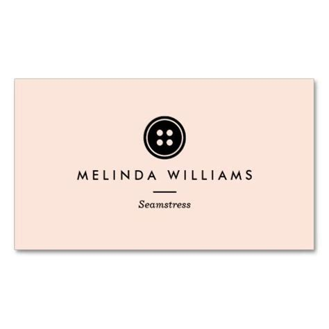 business card template with mascot modern button logo seamstress sewing tailor iii business