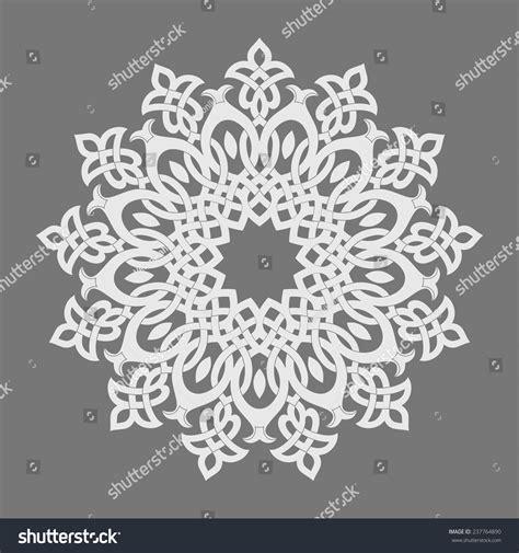 islamic round pattern vector round pattern persian arabic islamic turkish stock vector