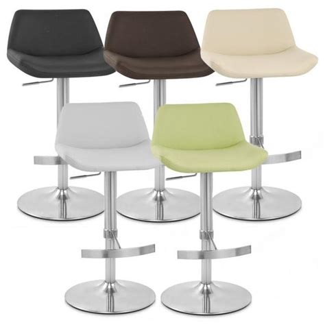 Brushed Steel Kitchen Stools by Christiana Brushed Steel Faux Leather Kitchen Bar Stool Ebay