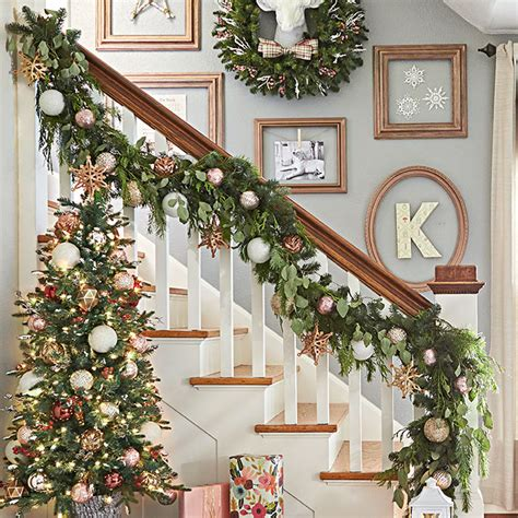 christmas lights for stair banisters diy christmas garland ideas