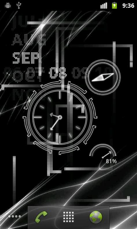 android clock themes live wallpapers neon clock live wallpaper available on the android market