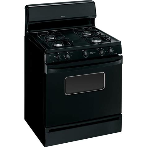 List Oven Gas hotpoint 30 in 4 8 cu ft gas range with manual clean oven in black rgb526detbb the home depot