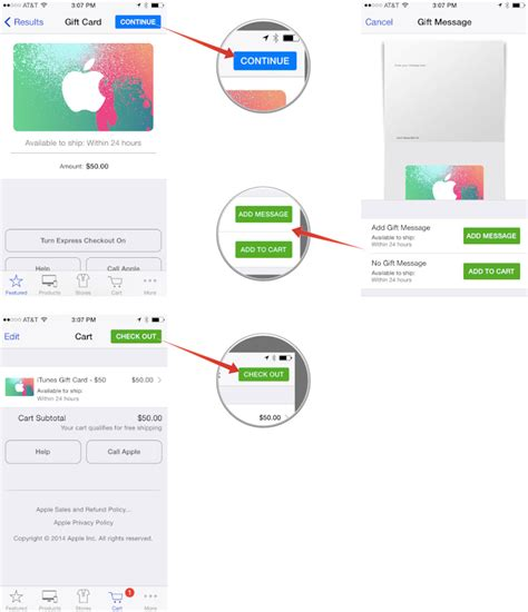 Itunes Gift Card For Apple Store Purchases - how to send an itunes or apple store gift card with the apple store app for iphone imore