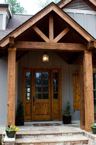 beam x front of house timber entryway home stuff stains front