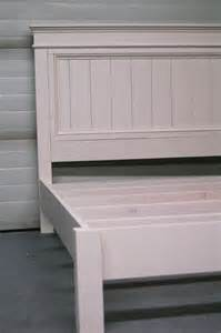 Free Queen Size Platform Bed Frame Plans by Ana White King Size Fancy Farmhouse Bed Diy Projects