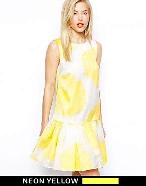 asos salon floral dress with peplum dress