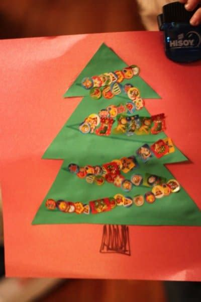 christmas tree crafts for preschool sticker tree craft for on as we grow 174