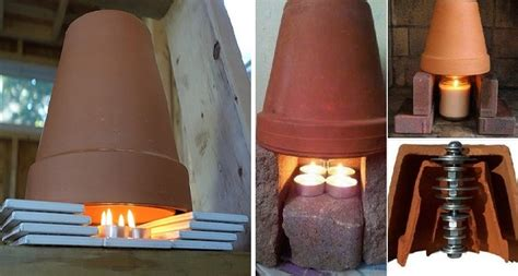 riscaldamento vasi terracotta riscaldamento fai da te in casa 2 vasi due candele ed il