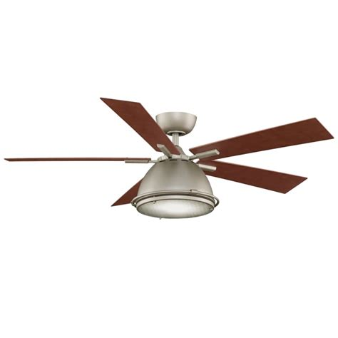 industrial ceiling fan with remote fanimation fp7951sn satin nickel 52 quot 5 blade industrial