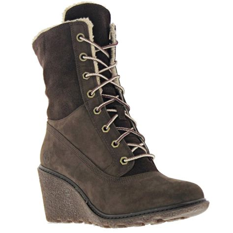 boots womens timberland amston roll top wedge boots s boots shoes