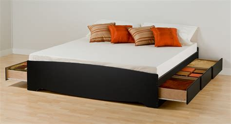 Black King Platform Bed Prepac Black Eastern King Platform Storage Bed 6 Drawers Bbk8400 Furniture Outlet Jeromes