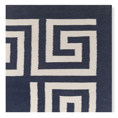 key outdoor rug key border indoor outdoor rug navy williams sonoma