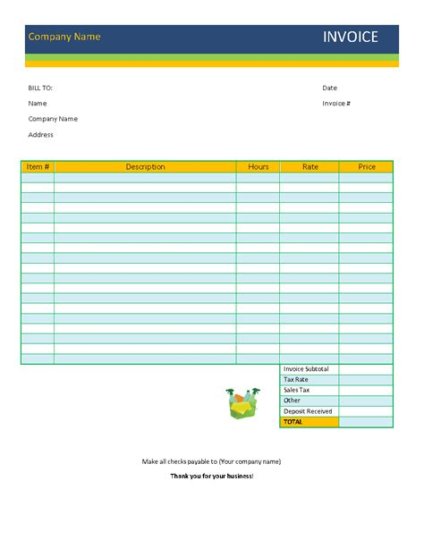 psychologist invoice template