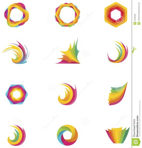 abstract design elements vector vector abstract elements stock vector image of element