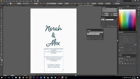 Design Wedding Card Using Adobe Illustrator invitation card using adobe illustrator image collections