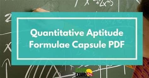 tutorialspoint quantitative aptitude pdf quantitative aptitude formulae capsule pdf bank exams