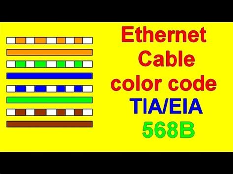 youtube color code ethernet cat6 color code tia eiab wiring diagram youtube