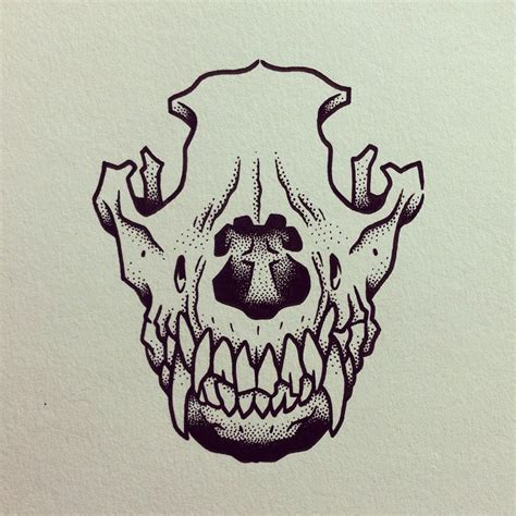 dog head tattoo designs animal to tattoos bones