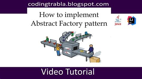 factory design pattern in java youtube how to implement abstract factory design pattern in java